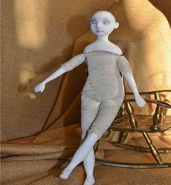 Лепим куклу из полимерной глины