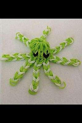 Как сделать веселого осьминога из резинок