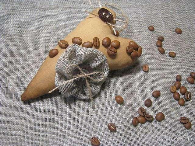 Ароматное кофейное сердце своими руками
