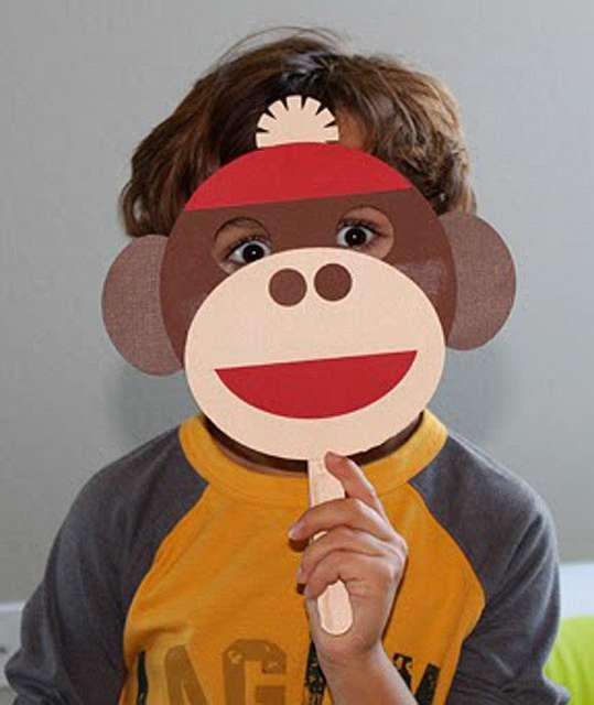 Маска обезьяны своими руками