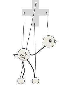 Как сделать куклу марионетку