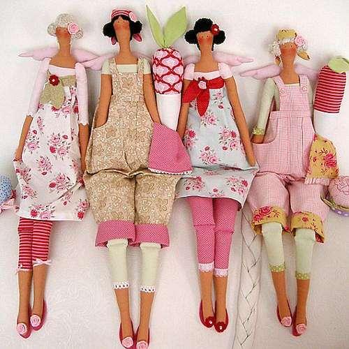 Разнообразие кукол из ткани своими руками