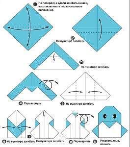 Как сделать пингвина из бумаги