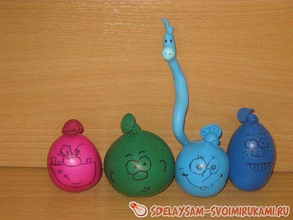 Веселые игрушки из воздушных шаров