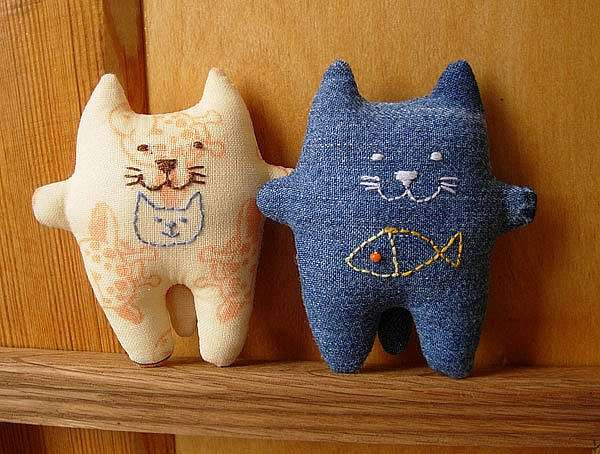 Шьем текстильного кота — для любителей кошек