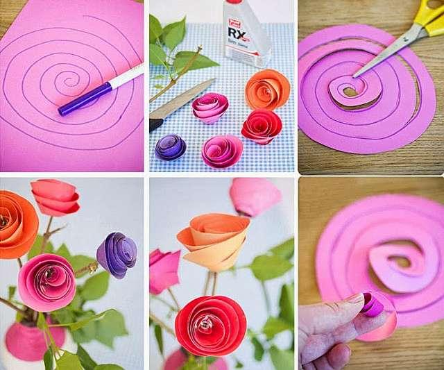 Как делать цветы из бумаги своими руками