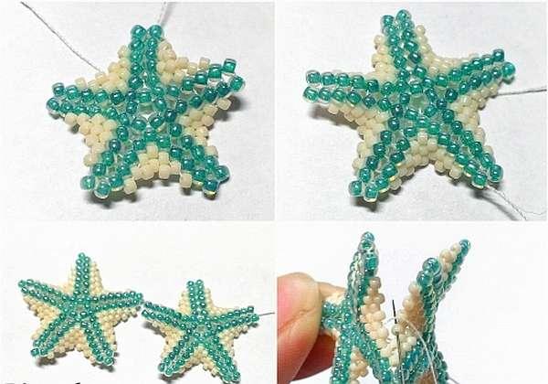 Плетение бисером морских звезд - Интересные поделки для дома сделанные своими руками, идеи с