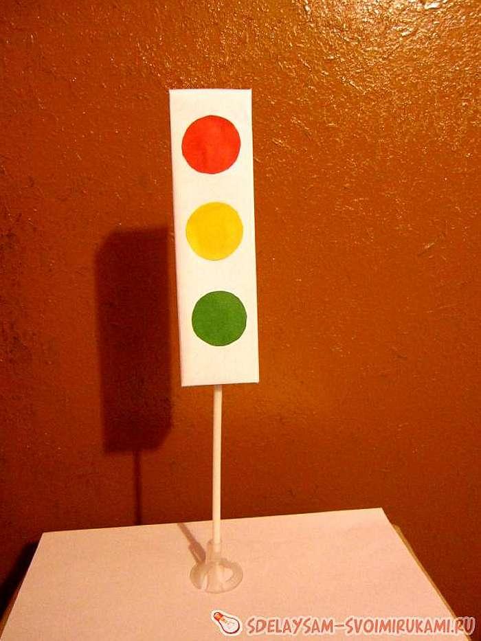 Как сделать светофор своими руками для 100