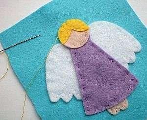 Ангелы из ткани своими руками на Рождество
