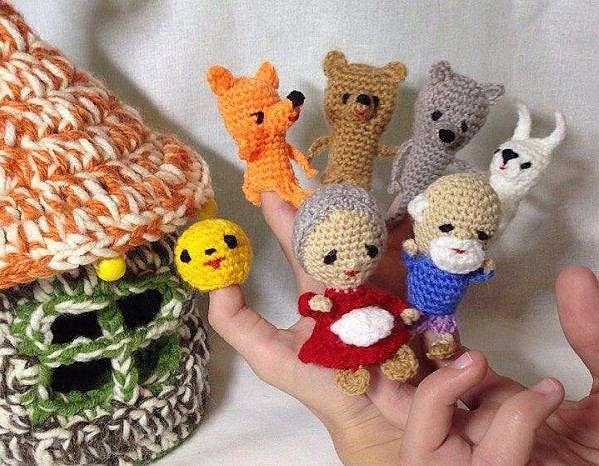 Вязание крючком пальчиковых игрушек
