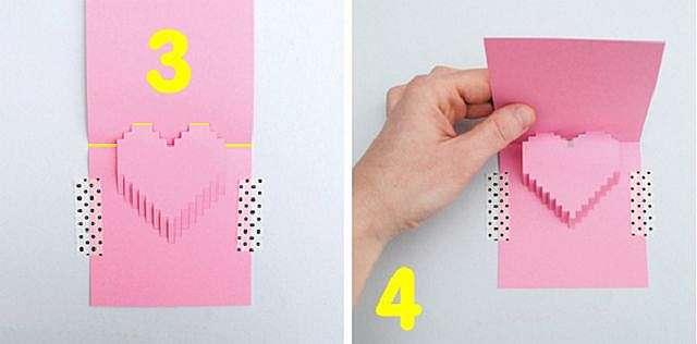 Как сделать открытку валентинку фото