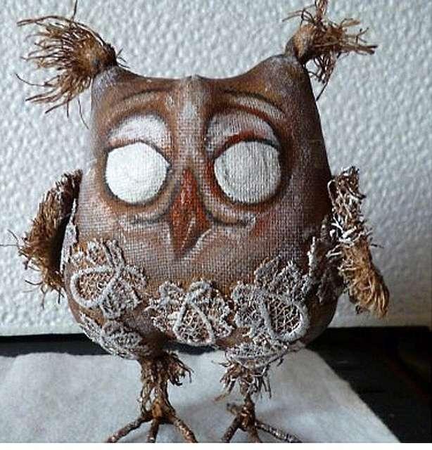 Кофейная игрушка сова