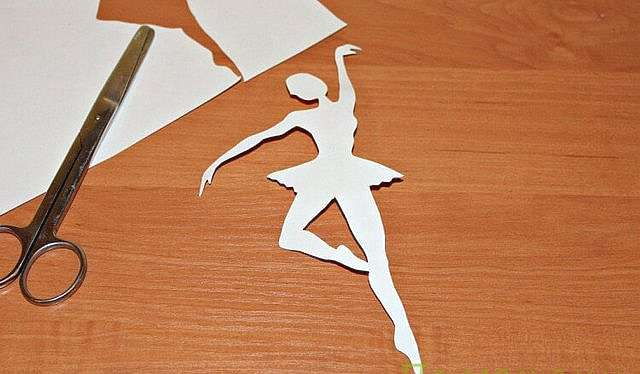 Балерина снежинка из бумаги