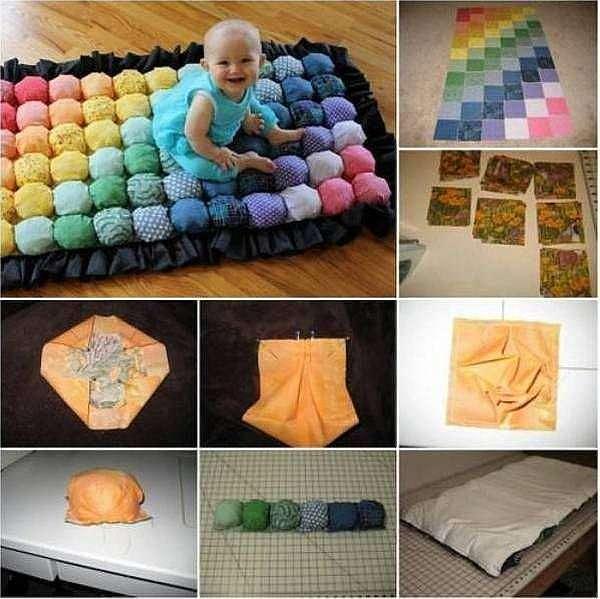 Как сшить  развивающий коврик для малыша