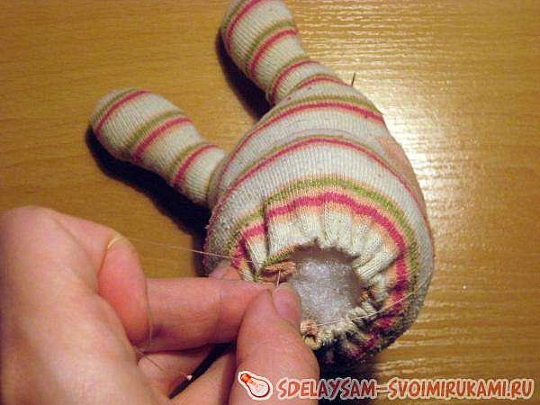 Зайка из старого носка