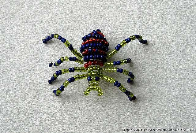 Как из бисера сделать паука