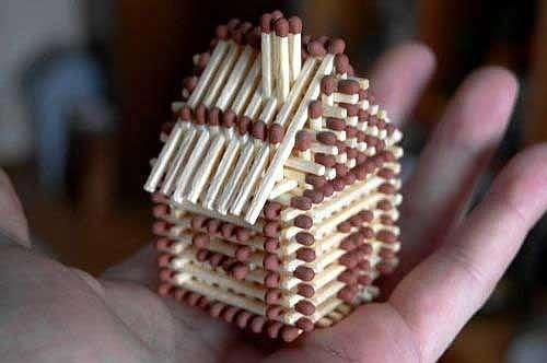 Сделать домик из спичек — просто