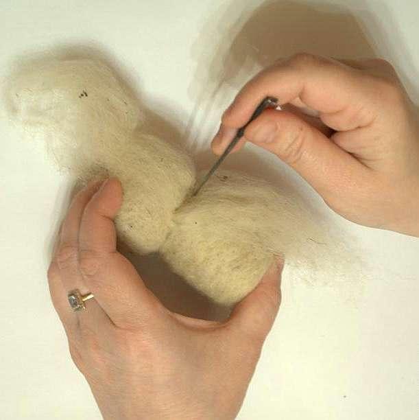 Делаем сову методом сухого валяния