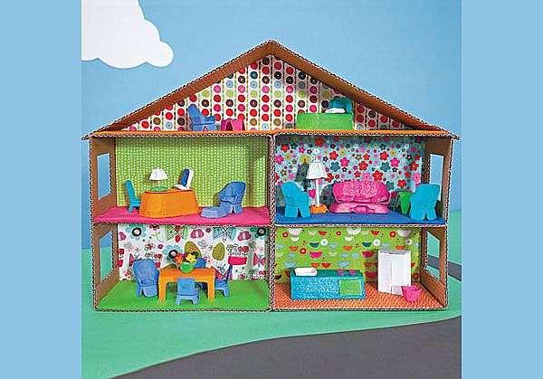 Как сделать домик из картона для ребенка