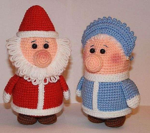 Как связать Деда Мороза крючком