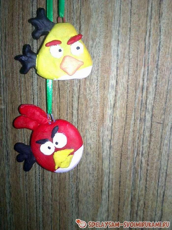 Птички Angry Birds из соленого теста