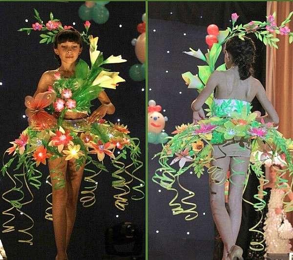 Платья из подручных материалов своими руками фото