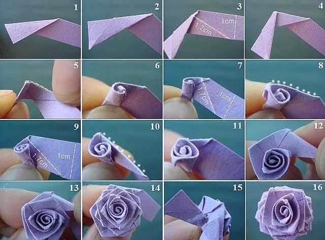 Прекрасные розы из бумаги своими руками