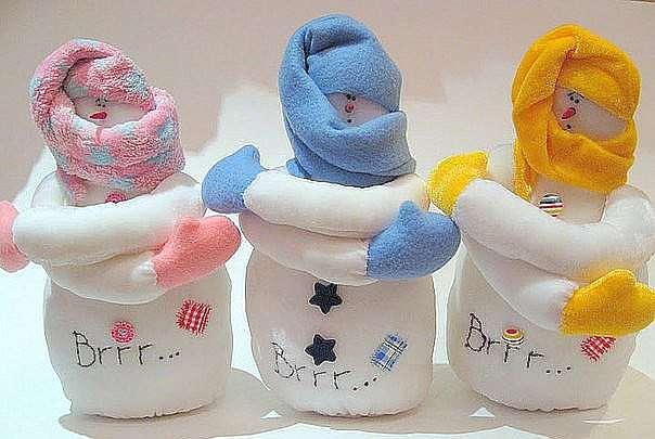 Как сшить снеговика своими руками