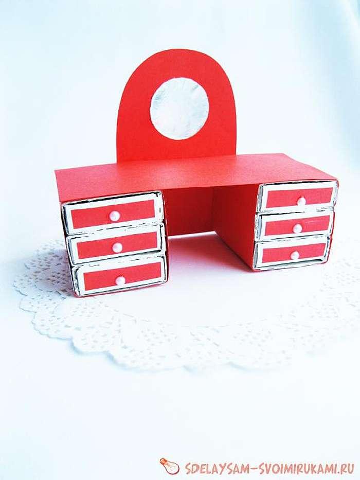 Как сделать из спичечных коробков мебель