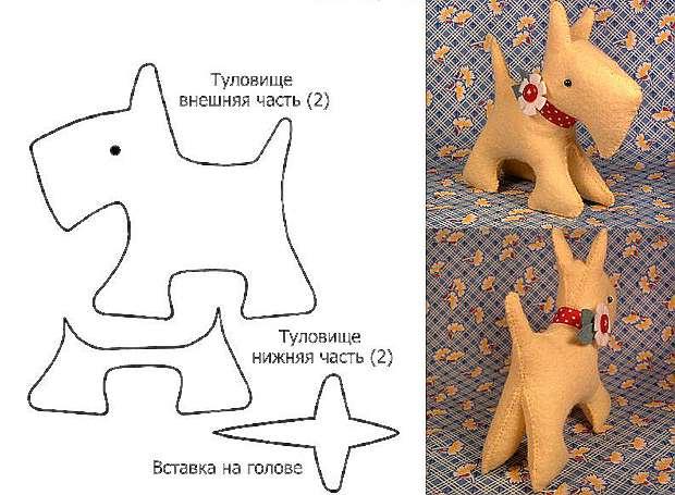 Новогодние собачки своими руками