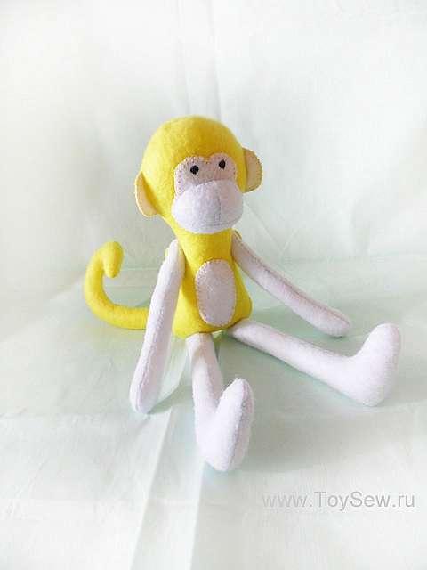 Шьем обезьянку из ткани