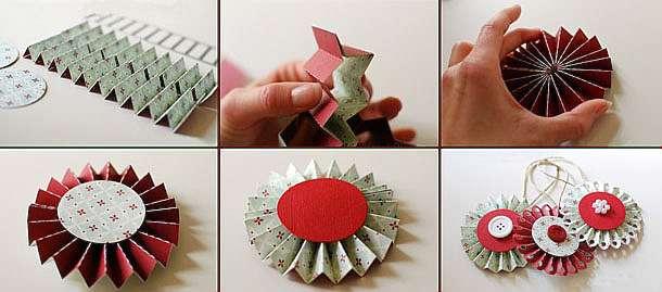 Новогодняя игрушка своими руками из бумаги