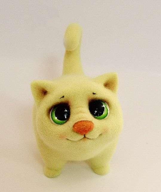 Котенок из шерсти — тёплый друг