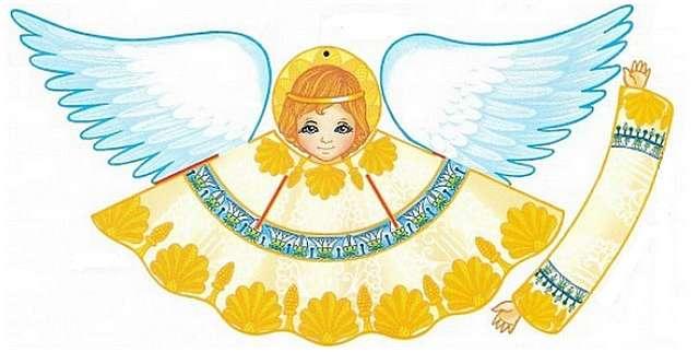 Добрый ангел оригами из бумаги