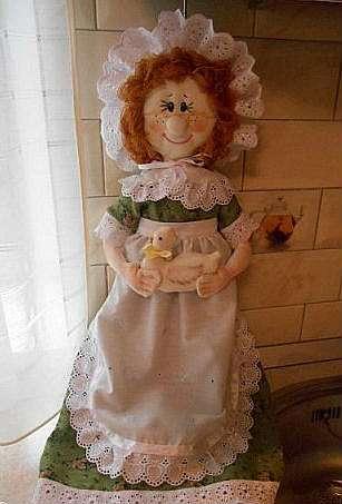 Кукла-пакетница своими руками