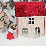 Новогодние домики своими руками
