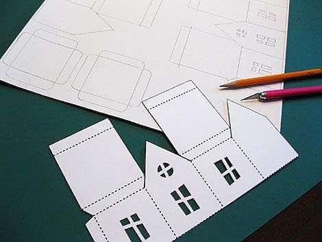 Как сделать объемный домик из бумаги
