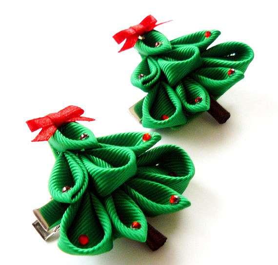 Новогоднее украшение из лент своими руками