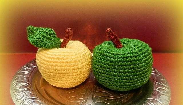 Вязаные фрукты и овощи крючком
