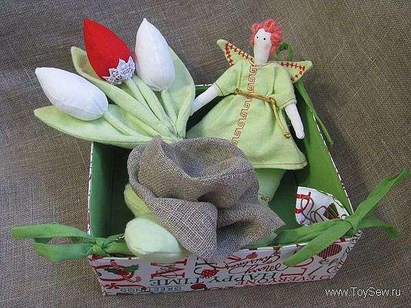 Тильда тюльпаны и роза, мастер класс