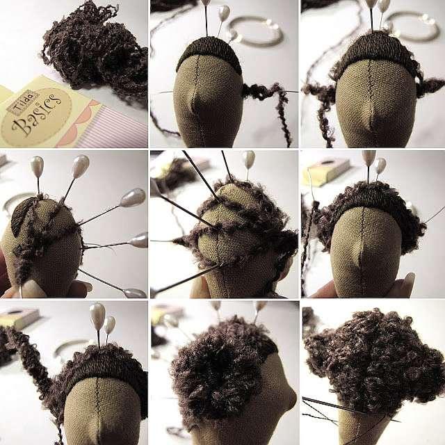 Как сделать волосы для кукол тильд