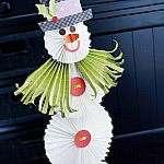 Как сделать симпатичного снеговика из бумаги