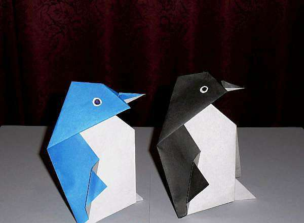 Пингвины из бумаги своими руками