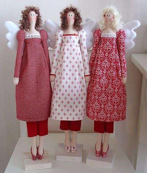 Шьем тильду винтажный ангел