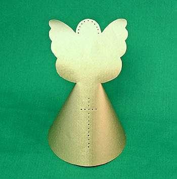 Как сделать ангела из бумаги на елку