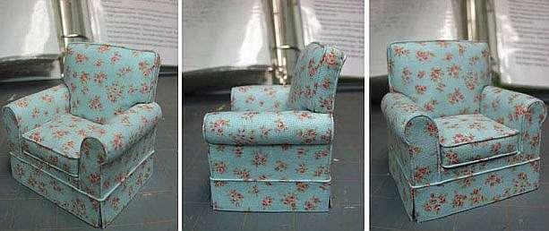 Делаем сами мебель для кукол: кресло, камин, пуфик