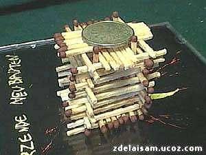 Строим домик из спичек