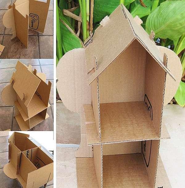 Делаем домик для куклы своими руками