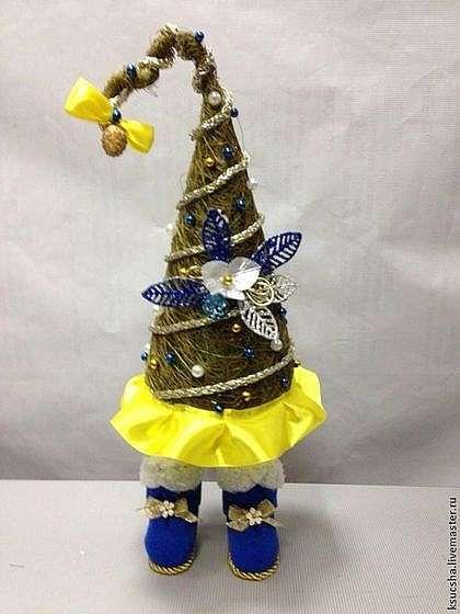 Делаем новогоднюю елку из сизаля