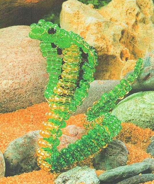 Как из бисера сделать змею